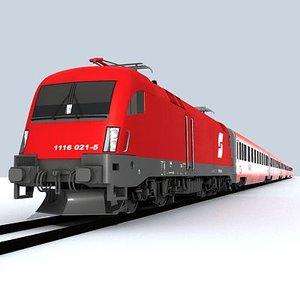 locomotive taurus 3d model