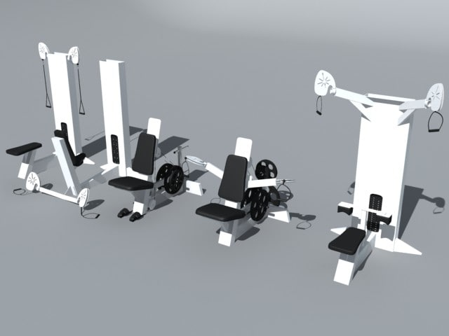 3d max weight machines exercise equipment