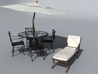 3d max patio furniture set
