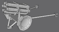 3d ww2 german nebelwerfer rocket launcher model
