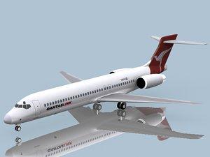 b 717-200 qantas 717 3ds