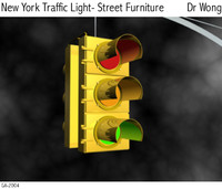 3ds max new york traffic light