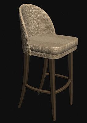3dsmax bar chair