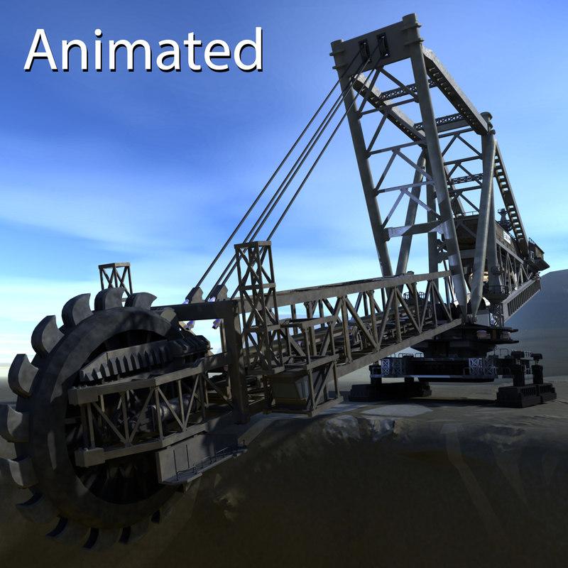 3d giant excavator strip mines model