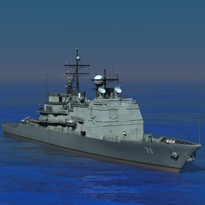 aegis navy ship cg-70 3d model