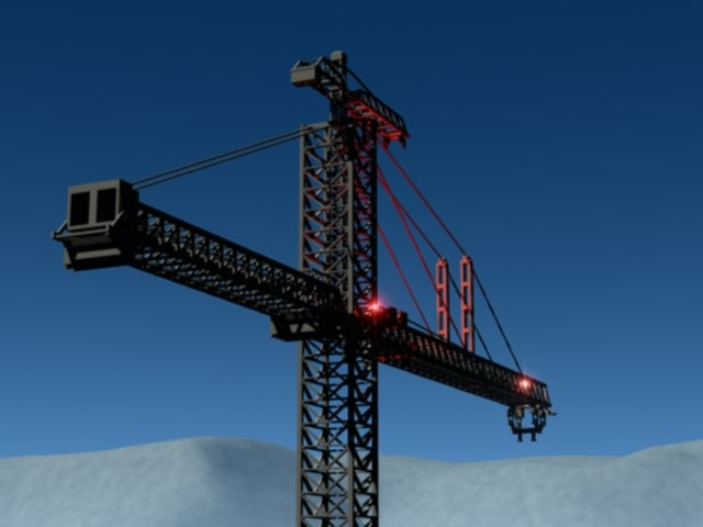 k-10000 tower crane kroll giant 3d model