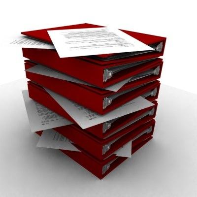 stack binders 3d ma