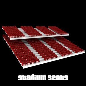 stadium seats 3d model