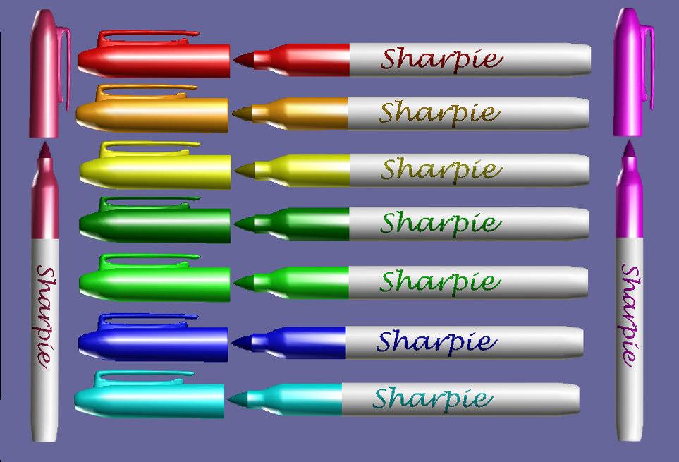 marker pen 3d model