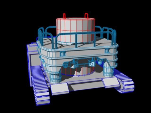 malcolm boring machine 3d model