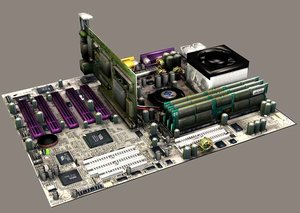 3d model motherboard mainboard