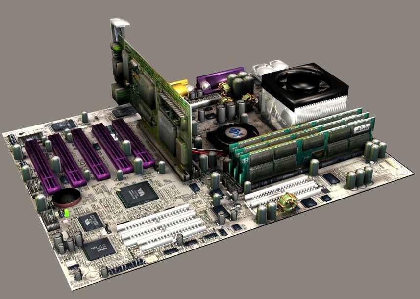 3d model motherboard mainboard