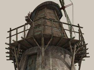 3d model windmill wind