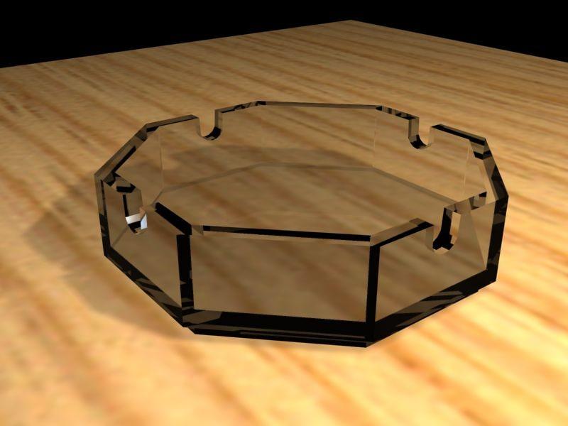 3dsmax glass ashtrash
