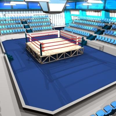 boxing arena 3d model