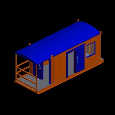 3d model driller doghouse
