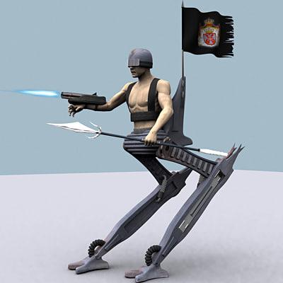 maya cyborg weapons