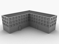 generic city building 3d model