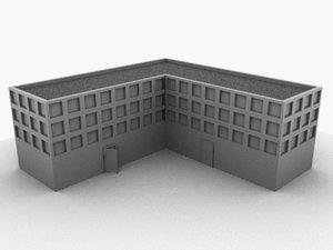 generic city building 3d model