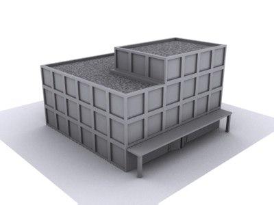 office city building 3d model
