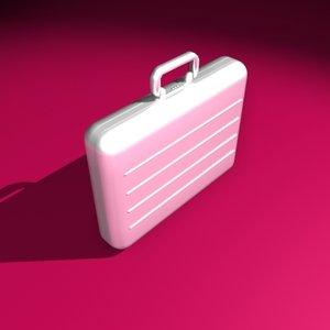 suitcase executive aluminum obj