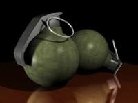 3d model grenade bomb