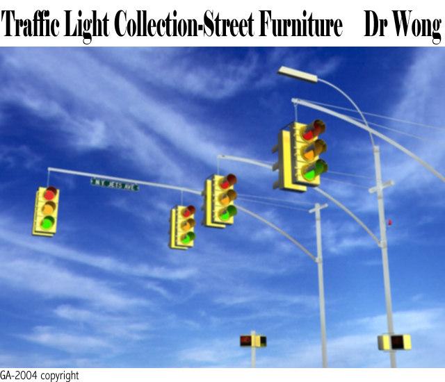 3d new york traffic lights model
