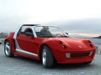 smart roadster 3d model