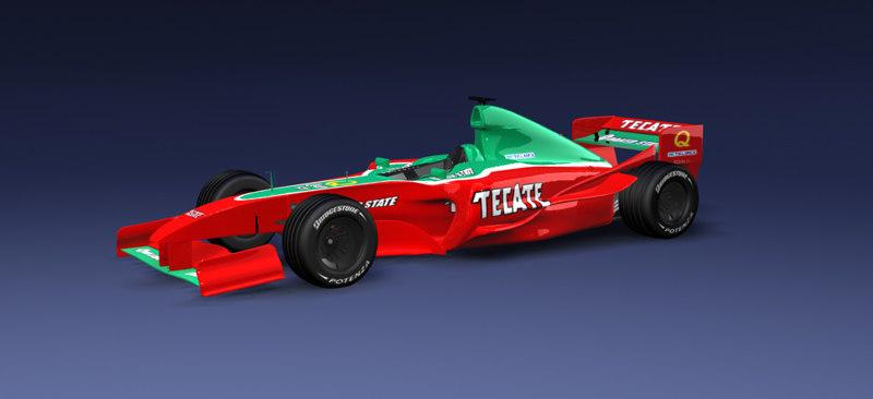 f1 car 3d max