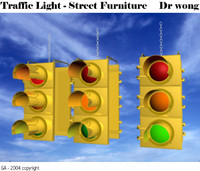 3d model traffic light heads
