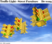 traffic light heads 3d max