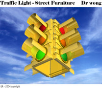 traffic light head 3d max