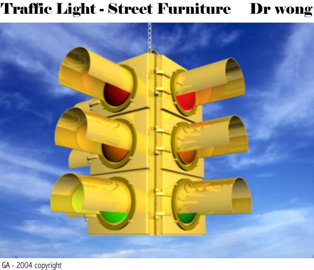 3d model traffic light head