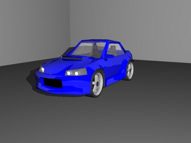 free 3ds model car sports