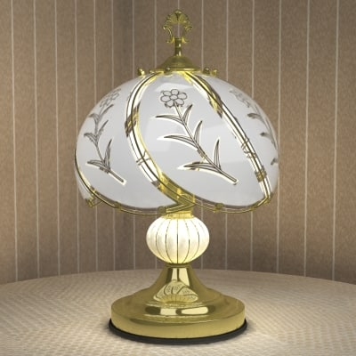 brass table lamp shade 3d model