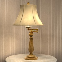 swingarm table lamp 3d 3ds