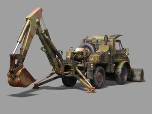 maya backhoe tractor