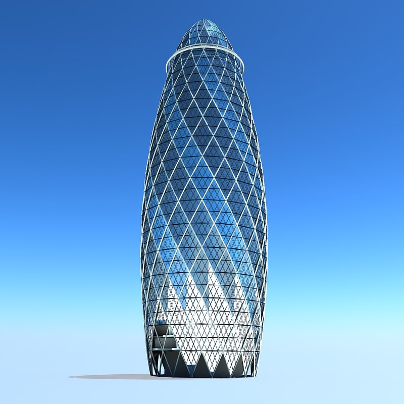 3ds max gherkin building