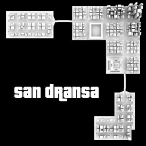 city san dransa skyscrapers 3ds
