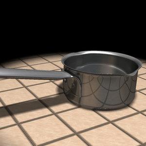 3d metal pot