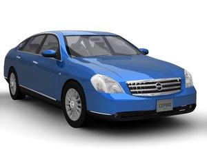 asian nissan cefiro 2004 3d model