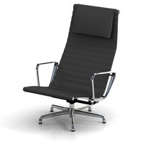eames aluminum chair 3d model