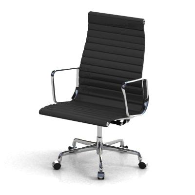 3d model of eames aluminum chair
