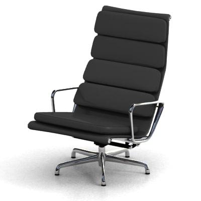 3d eames aluminum chair model