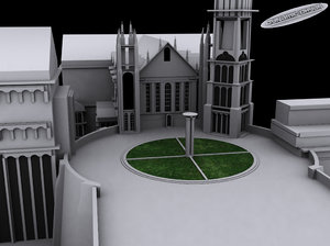 free count minas tirith 3d model