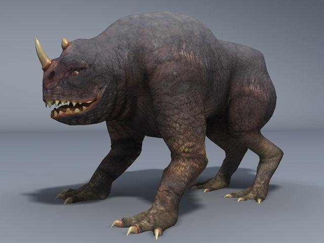 realistic fantasy dinosaur 3d x