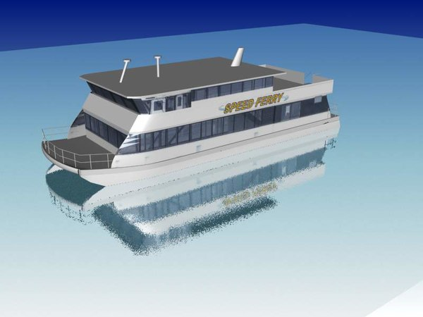 free ferry boat 3d model