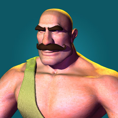 max strong male character