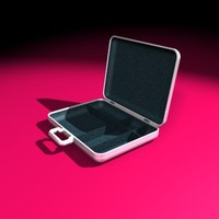 executive aluminum suitcase 3d model