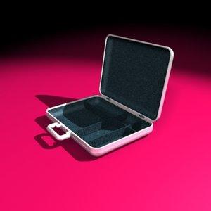 executive aluminum suitcase 3d model